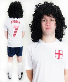 Kevin Keegan England Funny Football Fancy Dress Costume